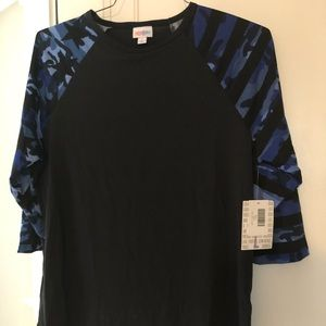 Lularoe Blue Camo Randy Large